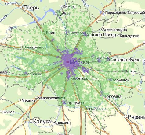 которая занимает 99% Москвы и
